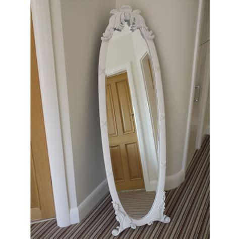 free standing shabby chic mirror shabby chic mirror cheval mirror free standing bevelled glass full length white
