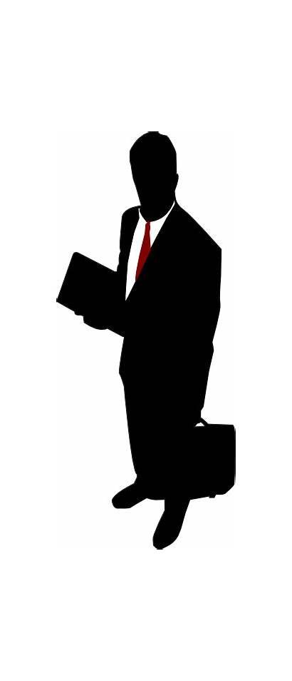 Business Businessman Clipart Clip Tie Person Silhouette