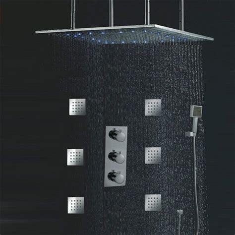 antique bronze kitchen faucet 24 quot led ceiling shower set with