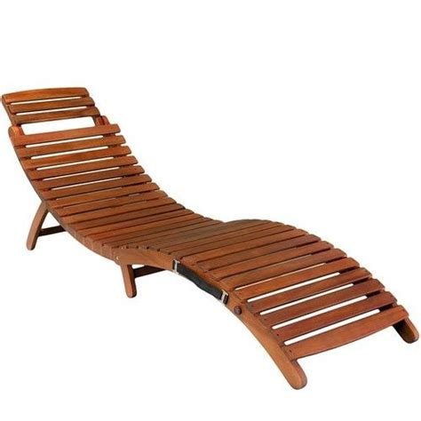 acacia wood chaise lounge chair outdoor patio furniture