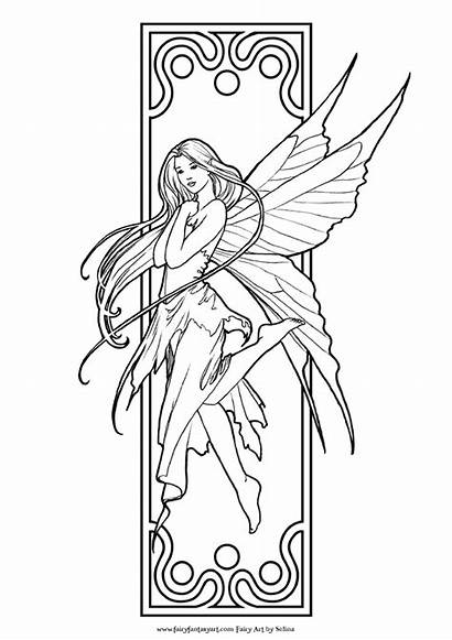 Coloring Fairy Pages Adults Olds