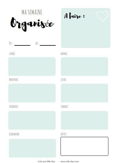 Planning semaine du 10 au 14 août. Free printable Calendrier 2018 — | Calendrier 2018, Organisation imprimable, Planificateur de projet