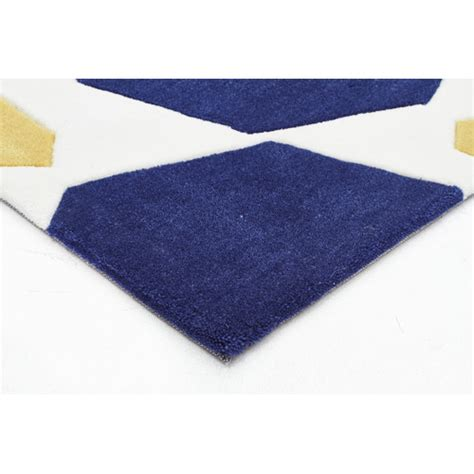 hive navy  yellow rug temple webster