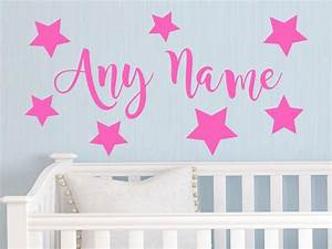personalized stars any name vinyl wall wall sticker art With kids wall decals