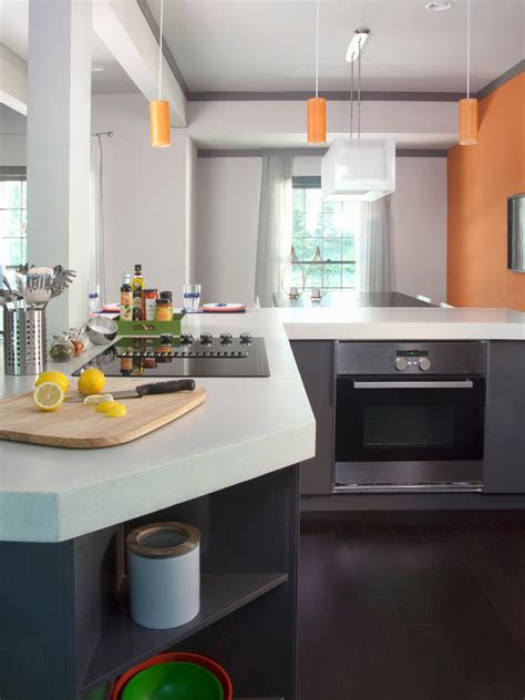 White Kitchen Countertop by White Granite Countertops Hgtv