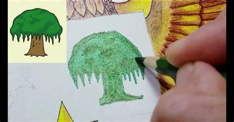 mewarnai sketsa gambar pohon beringin pancasila mewarnai