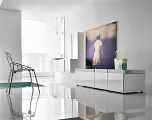 50 modern bathrooms for Modern wall decor for bathroom
