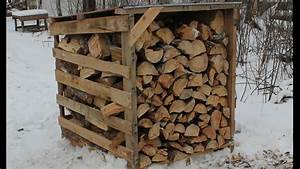 Easy Firewood Storage - Thehomesteadingboards.com