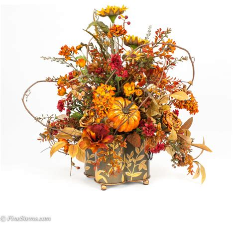 fall flower arrangements custom silk fall floral arrangement traditional artificial flower arrangements chicago