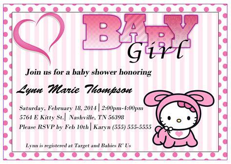 hello kitty baby shower invitation kustom kreations