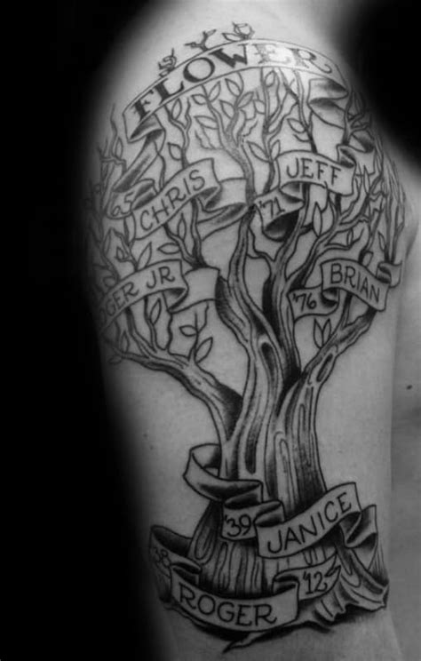 60 Family Tree Tattoo Designs For Men - Kinship Ink Ideas