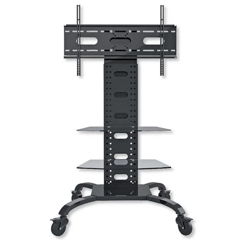 Mensole Led by Supporto A Pavimento Con 2 Mensole Trolley Tv Lcd Led