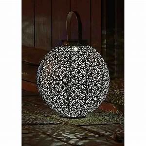 Lampe à Suspendre : lanterne solaire damaskus en m tal ajour solairepratique ~ Teatrodelosmanantiales.com Idées de Décoration