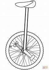 Unicycle Coloring Pages Drawing Clipart Outline Printable Clip Sketch Cartoons Crafts Supercoloring Bear Cliparts Skip Dot Through Hi Categories sketch template