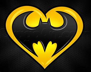 How to Draw a Batman Heart, Step by Step, Dc Comics ...