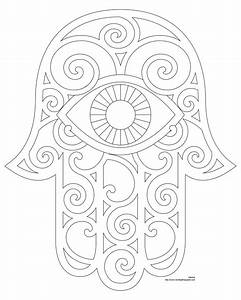 Don't Eat the Paste: Hamsa Coloring Page and Embroidery ...