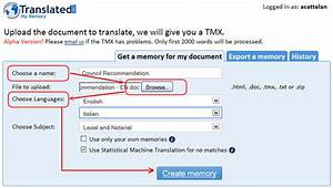 MyMemory - Create a custom Translation Memory from a ...