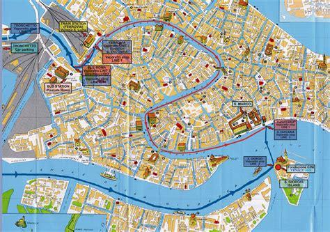 venice tourist map venice mappery