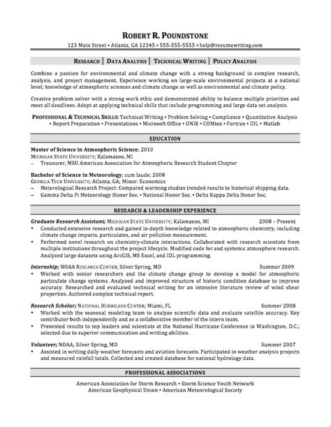 resume exles for master students sle resumes resumewriting