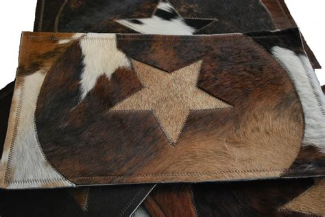 Cowhide Placemats by New Western Cowhide Placemats Set Dinning