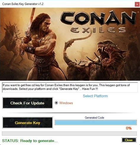 conan exiles key generator tool    conan