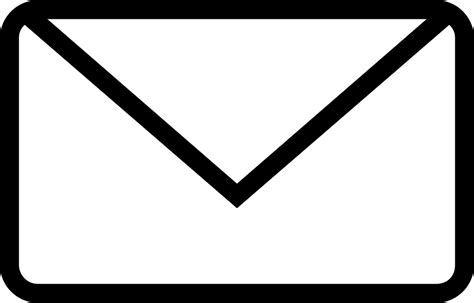 white mail icon vector png new email envelope back outlined interface symbol svg png