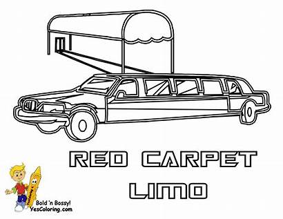 Limo Coloring Pages Limousine Transportation Printable Police