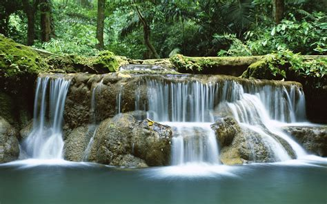 Free Waterfall Backgrounds by Tropical Waterfall Thailand Desktop Hd Wallpapers