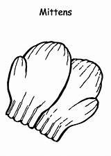 Coloring Mittens Preschooler Gloves Colorluna sketch template