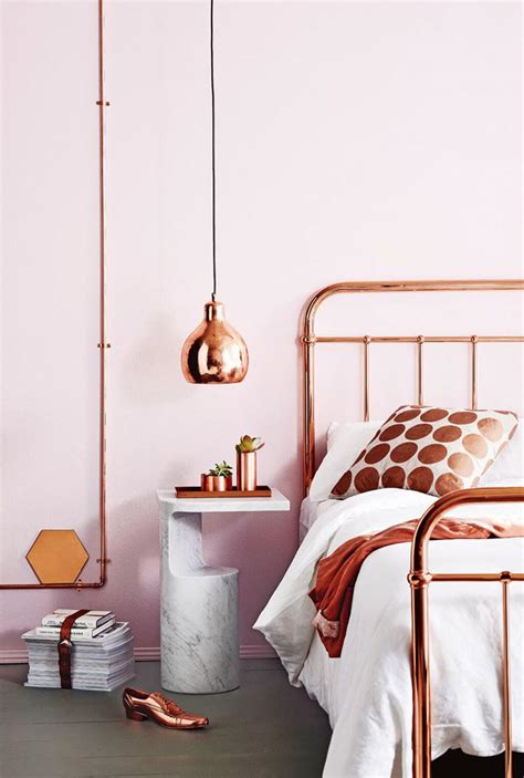 rose gold  copper details  stylish interior decor