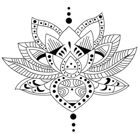 Coloriage Adulte Tatouages  Tatouage Lotus 1