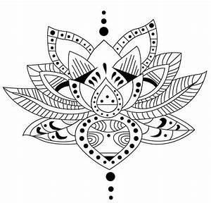 Dessin Fleurs De Lotus : 27 m ndalas para colorear de flores de loto mandalas para colorear ~ Dode.kayakingforconservation.com Idées de Décoration