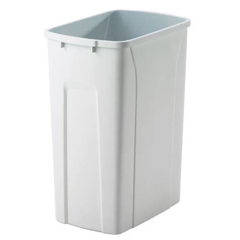 Kitchen Trash Can 9 Inches Wide by Replacement Plastic Waste Bin 20 Quart In Kitchen Trash Cans