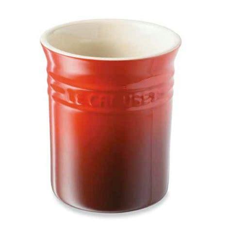 pot ustensiles cuisine pot à ustensiles cerise le creuset pots à ustensiles organisation de la cuisine mathon fr