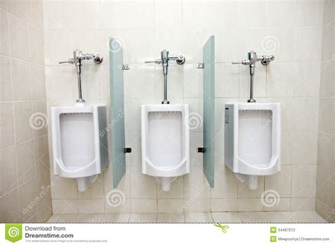 Urinals In Men's Bathrooms Stock Image  Image Of Station