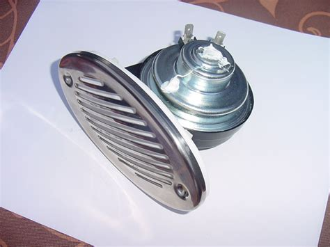 Boat Horn by Boat Horn Stainless Steel Cover 12 Volt New Oval Shape Ebay
