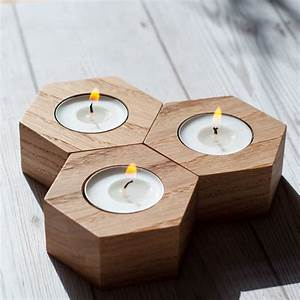 Geometric, Tea, Light, Holders, By, Wuddl