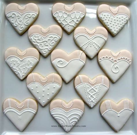it s a day for a white wedding heart shaped wedding and tuxedo cookies