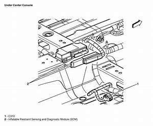 where is the srs airbag module in the 2006 chevy malibu With 87 chevy s10 lifted