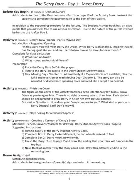 Sample Elementary Teacher Lesson Plan