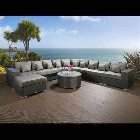 Massive Luxury Outdoor Garden 10 Seater Corner Sofa Group