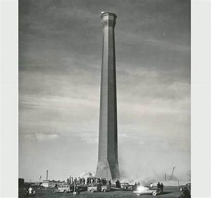 Demolition Smokestack Tallest History Down Omaha Grant