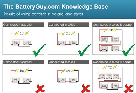 Wireing Diagram Parallel And Series Wiring by Connecting Batteries In Parallel Batteryguy