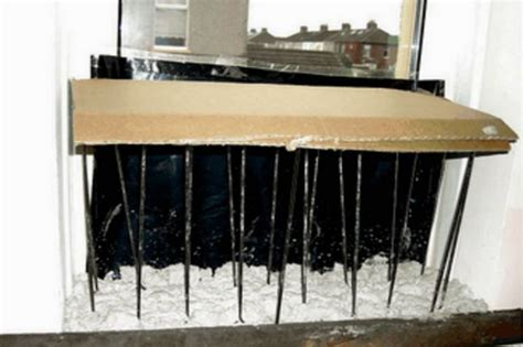 Window Sill Spikes by East Crews And At Risk From Drugs Gangs