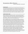 FREE 8+ Sample Movie Reviews in MS Word   PDF