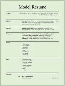 resume model for resume model cv resume template exles