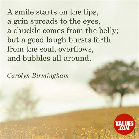 smile starts   lips  grin spreads   eyes