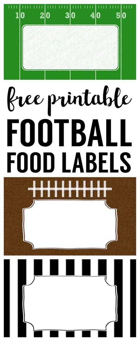 football food labels  printable paper trail design