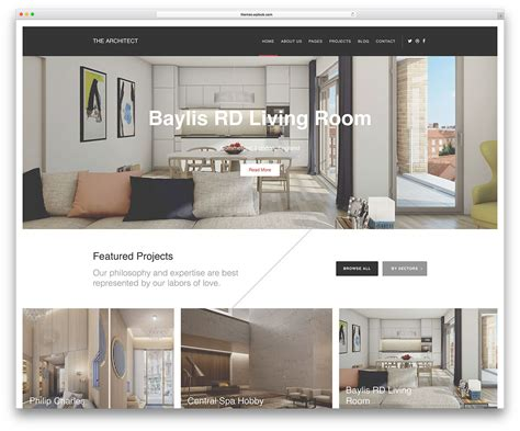 Top Ten Wordpress Themes For Architectures  Web Hosting