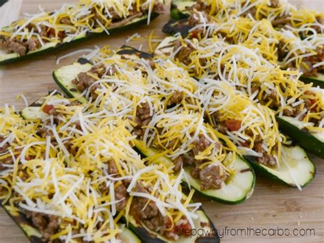 Zucchini Boat Recipes On The Grill by Grilled Zucchini Boats With Beef Step Away From The Carbs
